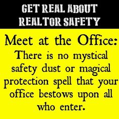 Get Real About Realtor Safety: Meet at the Office Myth #realtorsafetymonth #realtorsafety #realestateagent #realtor #realtors #realtorlife #realestatelife #realestatebroker #realestateagents #realtorproblems #realestatesales #sellinghomes #openhouse #meetattheoffice #safetymyth #ruggedizeyourlife #firehillgroup #forestselby #dontbefooled