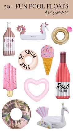 Pool Floats | Fun Pool Floats | Unique Pool Floats | Rose Champagne Pool Floats | Ice Cream Pool Floats | Pink Pool Floats