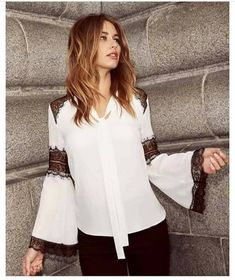 Buy Lipsy Lace Insert Blouse from the Next UK online shop. Lapop Clothing ce794ee5711
