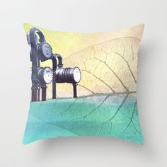 UNDER CONSTRUCTION I Throw Pillow by Pia Schneider [atelier COLOUR-VISION] - $20.00. #pillow #throwpillow #home #decor #hometextile #homedecor #livingroom #bedroom #cushion #indoor #outdoor #industrial #industry #society6 #piaschneider #ateliercolourvision #art #artprint #artwork #artproduct #illustration #black #grey #technic #factory #ocean #environment #environmentalprotection #pollution #turquoise #yellow #blue #surreal #leave #nature #landscape #sea
