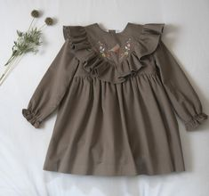 Vestido Ruiseñor – Mi Canesú Tartan, Blouse, Long Sleeve, Sleeves, Tops, Women, Fashion, Dress, Measurement Chart