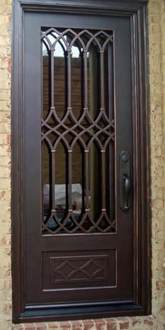 for custom doors Free local pick up No tax in California,Nevada,Utah,Arizona Steel Gate Design, Iron Gate Design, Single Door Design, Main Door Design, Window Grill Design, Iron Window Grill, Steel Doors And Windows, Iron Front Door, Door Design Interior