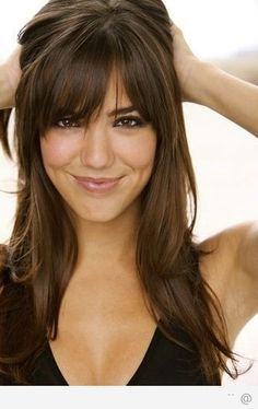 fringe hairstyles for round faces - Google Search