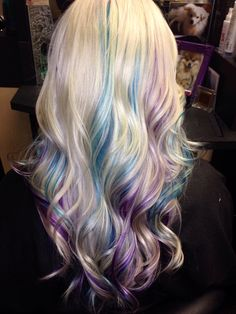Purple and turquoise using Rusk deepshine directs.