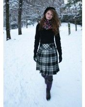 Ladies Hipster Pleated Skirt with Crosscut Waistband, 2 Buckles And Straps, Mini Length Special Order Kilt Skirt, Tweed Skirt, Dress Skirt, Tartan Fashion, Fashion Outfits, Scottish Skirt, Scottish Outfit, Scottish Clothing, Image Fashion