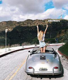Cali dream ❤ via Porsche Sports Car, Porsche Models, Porsche Cars, Porsche Classic, Classic Cars, Auto Girls, Car Girls, Sexy Cars, Hot Cars