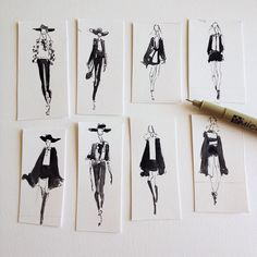 Fashion illustration - stylish fashion sketches // Jeanette Getrost
