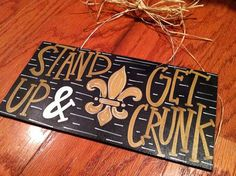 SALE New Orleans Saints Stand Up and Get Crunk