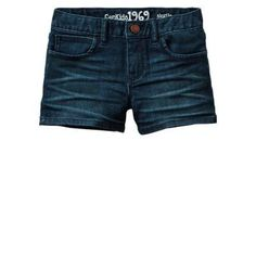 $19, Navy Denim Shorts: Denim Shortie Shorts by Gap. Sold by Gap. Click for more info: http://lookastic.com/women/shop_items/38288/redirect