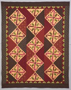 """Candy Cane Zig Zag quilt, in: """"Be Merry: Quilts and Projects for Your Holiday Home""""by Martha Walker. Kansas City Star Quilts"""