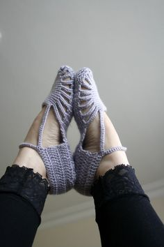 Crochet slippers LOVE