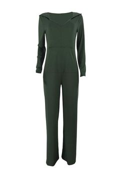 012c907e2e7 Casual Hooded Collar Loose Jumpsuit