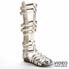Candie's Knee-High Gladiator Sandals - Women