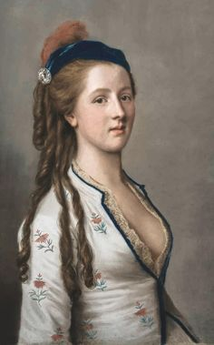 Lady Anne Somerset Countess Northampton by an 18th-century Swiss fellow called Jean-Etienne Liotard (1702-89).