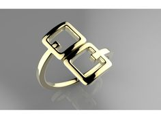 Ring Squared by Likesyrup @Shapeways