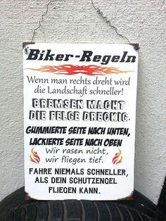 Edles Holzschild für alle Motorradfahrer Große DinA4 mit einer Drahtaufhängung