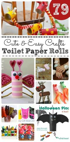 Cute & Easy Toilet Paper Roll Crafts - oh how we love love love crafting with toilet paper rolls. TP Rolls are so fun and versatile to craft with and everyone has them! There are SO many things you can make. Cardboard Tubes are simply the best. We have many TP Roll Crafts from over the years and FINALLY have pulled them together in one place. ENJOY!!!!
