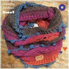 Op 2 oktober kwam shawl Donut als gratis patroon op het blog van juf Sas en twee dagen later postte Belinda al haar gehaakte versie van colshawl Donut. Wat een