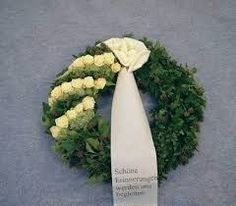 """Funeral wreath """"Akzent"""" (# You are in the right place about funeral speech Here we offer you the most beautiful pictures about the funeral outfit you are looking for. When you examine the Funera Silk Flower Wreaths, Silk Flowers, Bouquet Flowers, Funeral Floral Arrangements, Flower Arrangements, Romantic Flowers, Vintage Flowers, Casket Sprays, Grave Decorations"""