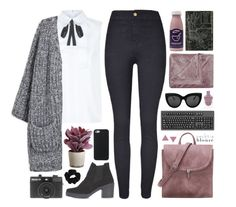 """necktie blouse I"" by rosemarykate ❤ liked on Polyvore featuring Torre & Tagus, Pinko, Oliver Gal Artist Co., Topshop, Wolf & Moon, M&Co, Holga, American Apparel, polyvorecontest and falltrend"