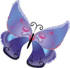 Purple Butterfly Clipart
