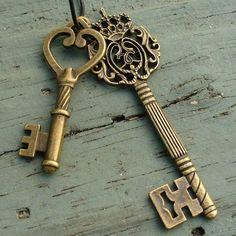 Steampunk lindo clave para tu pirata de encanto corazón victoriano collar colgante