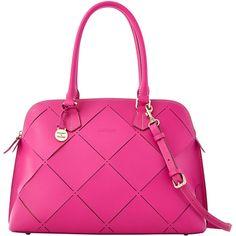 Dooney & Bourke Large Zip Zip Satchel ($525) ❤ liked on Polyvore featuring bags, handbags, purses, bolsas, fuchsia, pink satchel purse, zipper purse, handbags purses, dooney bourke handbags and hand bags