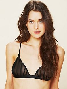 Triangle Bra with Piping