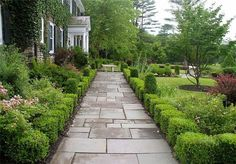 Formal Garden Walkway  Flagstone Walkway  Gayle Burbank Landscapes  Bearsville, NY