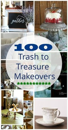 100 Trash to Treasure Makeovers from thrift store finds. store crafts upcycling Top 100 Trash To Treasure Makeovers 100 Trash to Treasure Makeovers from thrift store finds. store crafts upcycling Top 100 Trash To Treasure Makeovers Upcycled Crafts, Upcycled Home Decor, Diy Crafts To Sell, Recycled Decor, Recycled Garden, Upcycled Vintage, Art Crafts, Thrift Store Shopping, Thrift Store Crafts