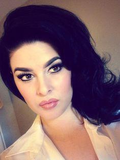 "Glam girl Stela Licina...""today's '60s hair/makeup inspiration"""