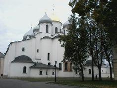 Catedral de Santa Sofia Kremlin em Novgorod ( Rússia )