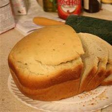 Super Easy Rosemary Bread Machine Bread Recipe