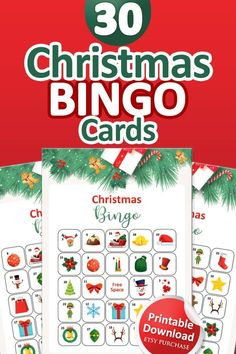 Christmas Bingo Cards, Printable Christmas Games, Fun Christmas Games, Christmas In July, Bingo Holiday, Bingo Set, Bingo Games, Calling Cards, Printable Designs