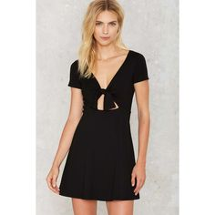 Nasty Gal Bind Your Own Business Fit & Flare Dress (225 ILS) ❤ liked on Polyvore featuring dresses, black, cut out fit and flare dress, short sleeve dress, short sleeve fit and flare dress, cutout dresses and fit and flare dress
