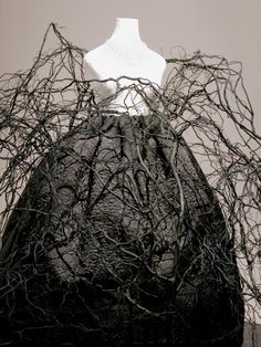 Tree dress with branches and roots ...sculptural