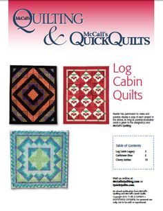 Thank You - Log Cabin Quilts