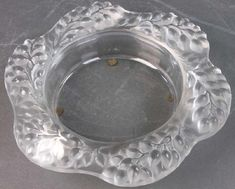 Lalique Frosted Glass Bowl