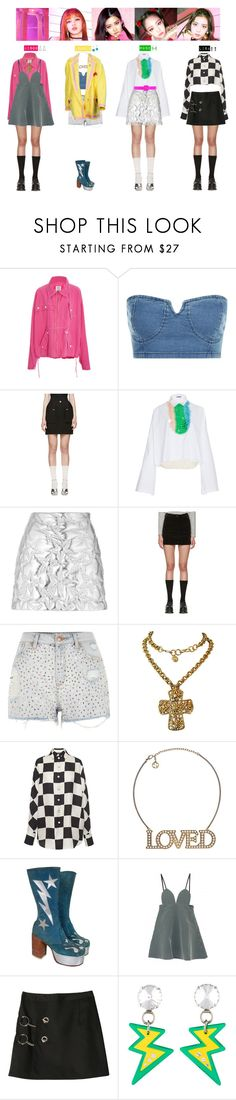"""""""BLACKPINK - AS IF IT'S YOUR LAST❤️💜💚💙💛"""" by vvvan99 ❤ liked on Polyvore featuring Rosie Assoulin, Maison Margiela, Jil Sander, MSGM, Hermès, YMC, River Island, Christian Lacroix, Salvatore Ferragamo and Gucci"""