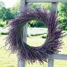 Nature's best  Add a pop of purple color- as well as floral perfume-to your entryway with a lavender wreath.  This wreath came from Willowfield Lavender Farm in Mooresville, Indiana.