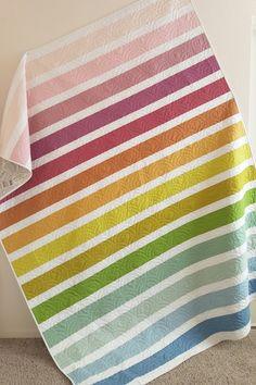 Stripe Quilt Pattern, Striped Quilt, Aqua Quilt, Green Quilt, Quilt Baby, Jellyroll Quilts, Easy Quilts, Small Quilts, Quilt Modernen