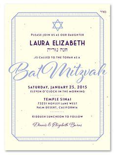 Bat Mitzvah Invitations Philadelphia plantable Philadelphia