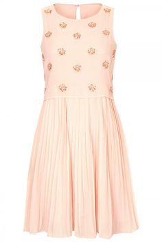 Topshop Beaded Bodice Pleat Dress, £60