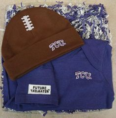 Texas Christian TCU Horned Frogs Baby Football Cap and Bodysuit Set 24c6fb5be2c1
