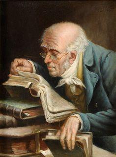 The Bookworm, Carl Spitzweg, 1850.