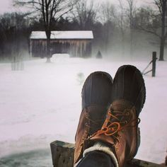 Looks cold out there. Thank goodness for these snow boots. ;-)