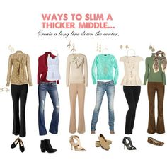 Slim an apple shape. Find styles that flatter your body type!