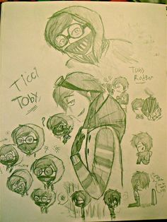 ticci toby drawings | Ticci Toby by KohakuFox <<<< These drawings are just so cute! (=^.^=)