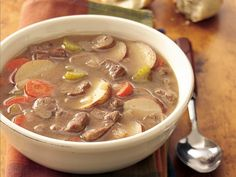Slow Cooker Hearty Steak and Tater Soup
