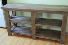 Ana White | My Rustic X Console - DIY Projects